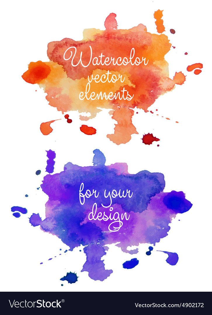 Abstract watercolor hand painted background in