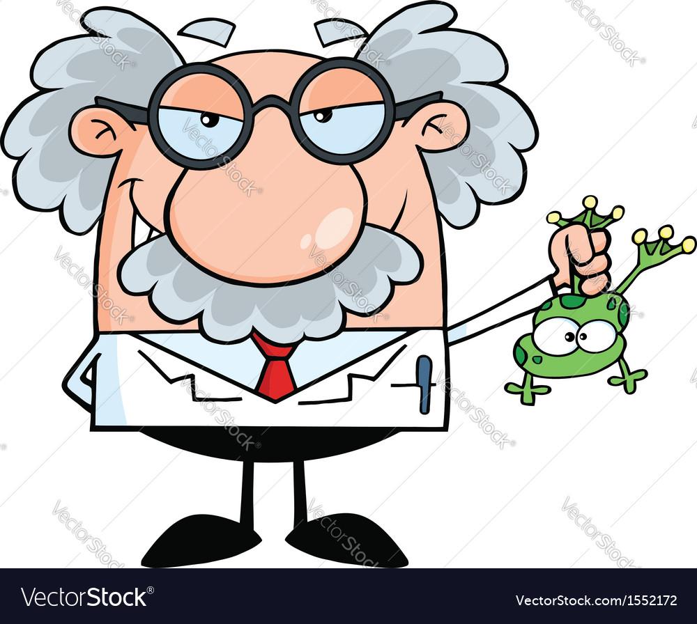 Scientist cartoon Royalty Free Vector Image - VectorStock