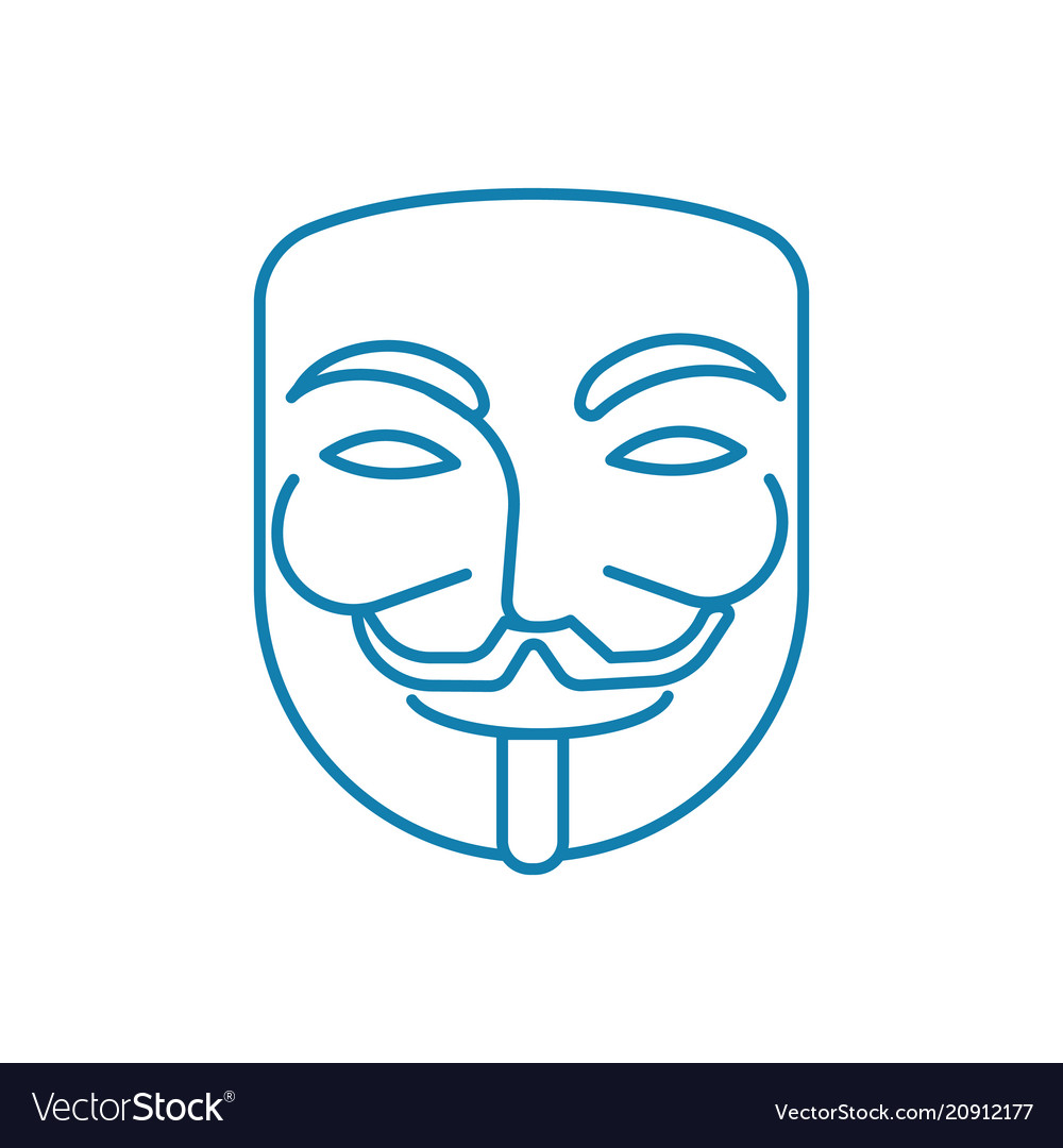 Anonymous user linear icon concept anonymous user