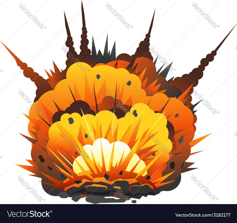 cartoon bomb explosion royalty free vector image vectorstock