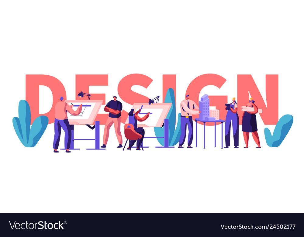 Design engineering banner character invent