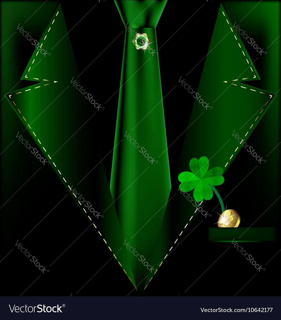 Green festive suit