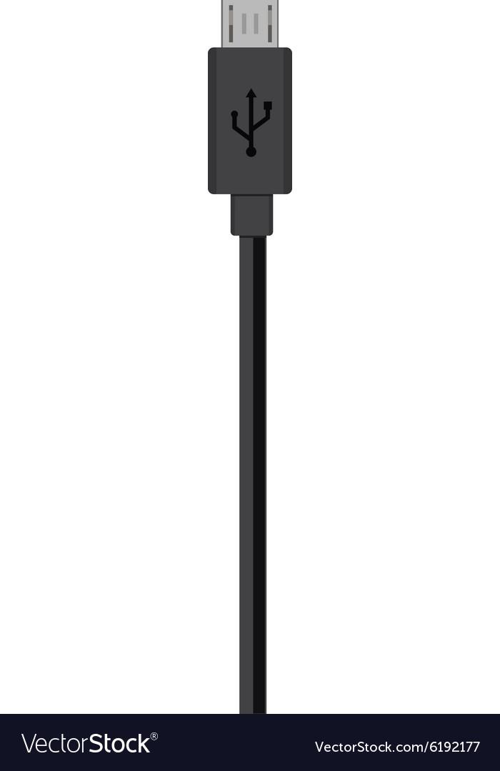 micro usb cord royalty free vector image vectorstock vectorstock