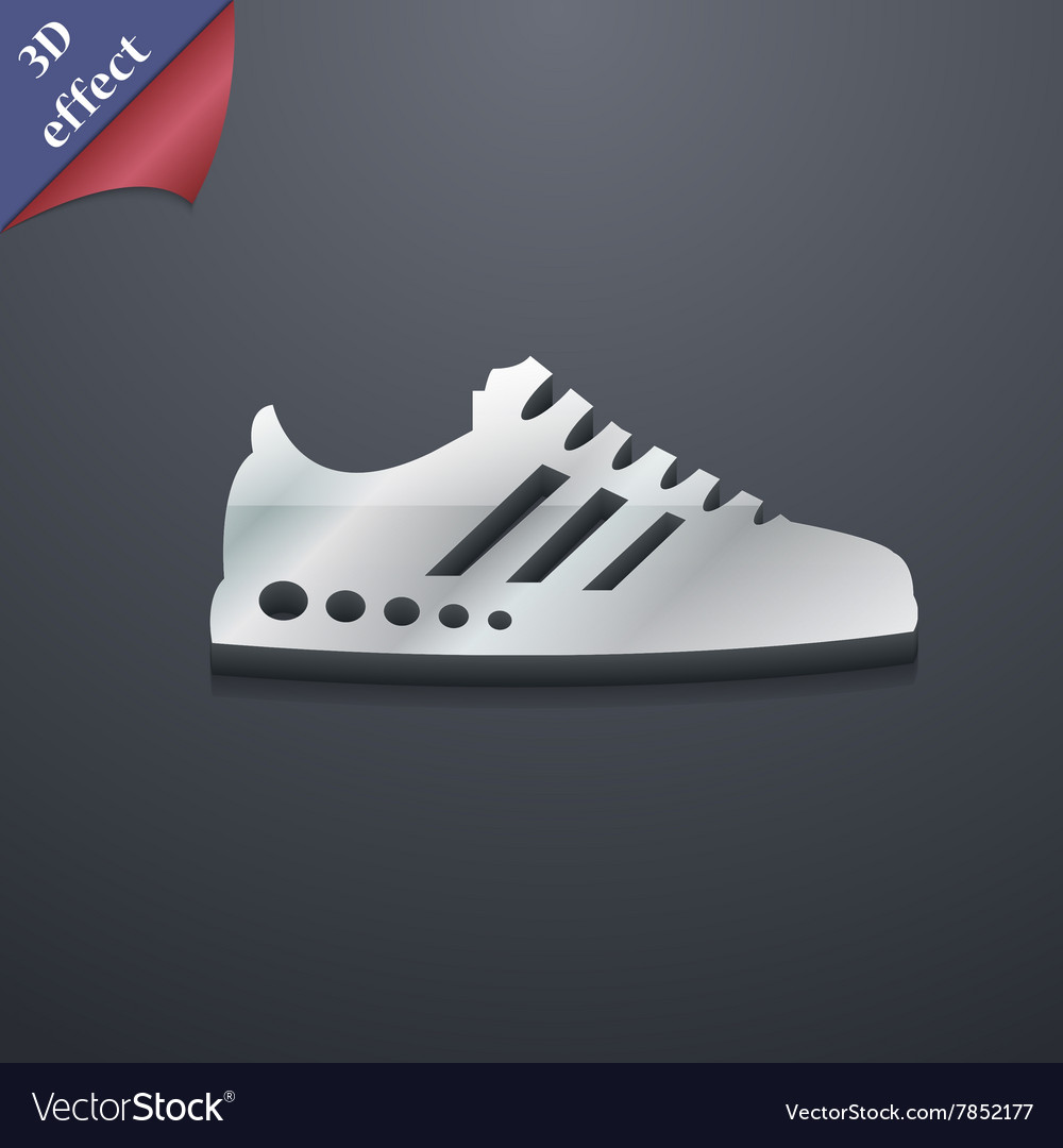 Sneakers icon symbol 3D style Trendy modern design