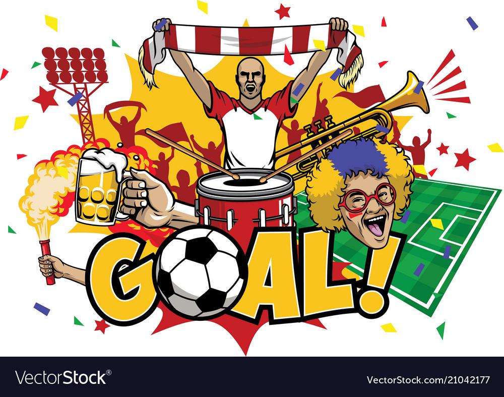 Soccer design element set
