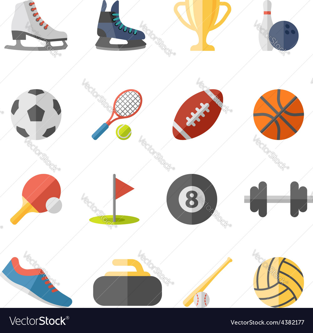 Sport flat icons