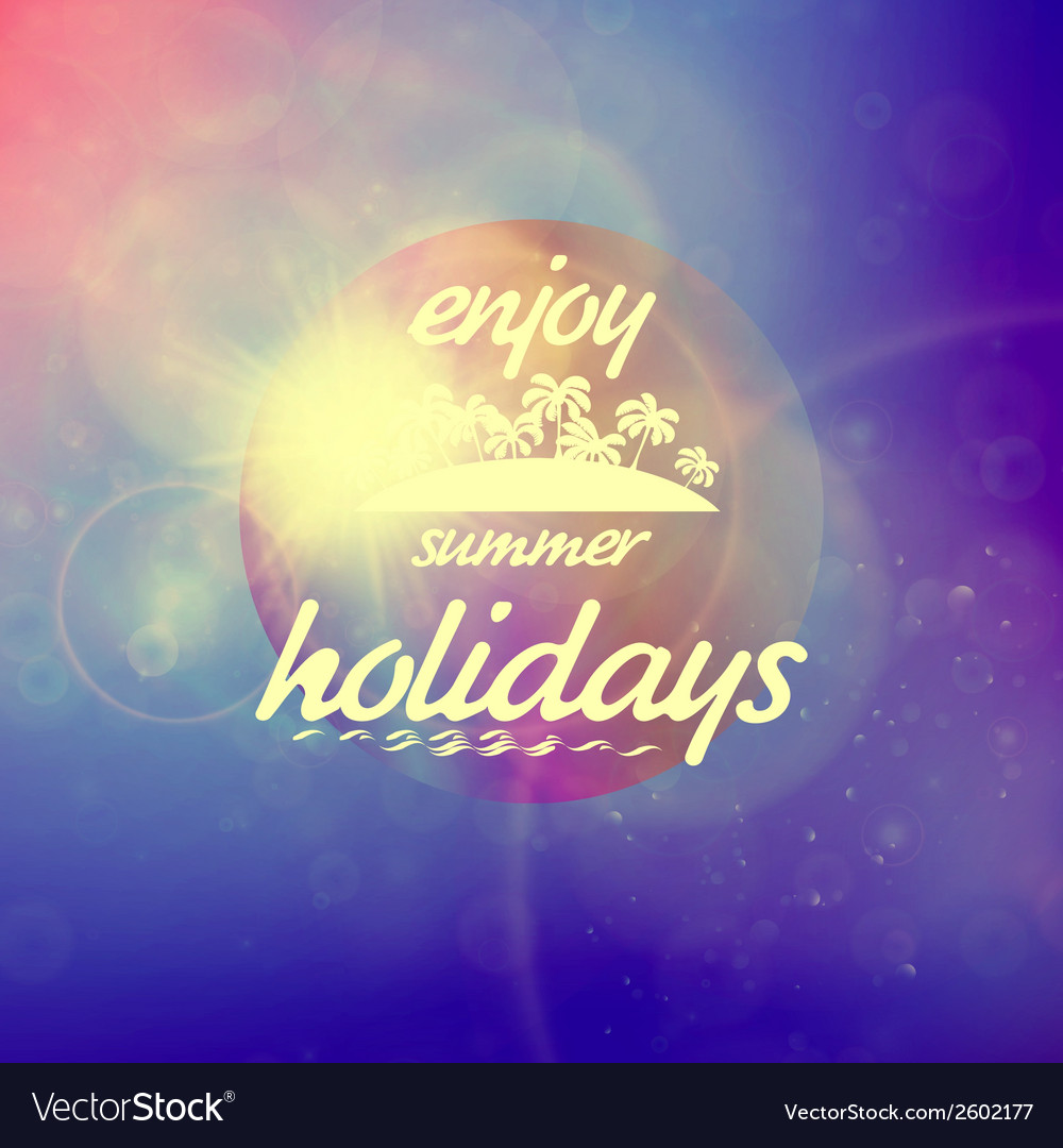 Summer holidays sunset with defocused lights