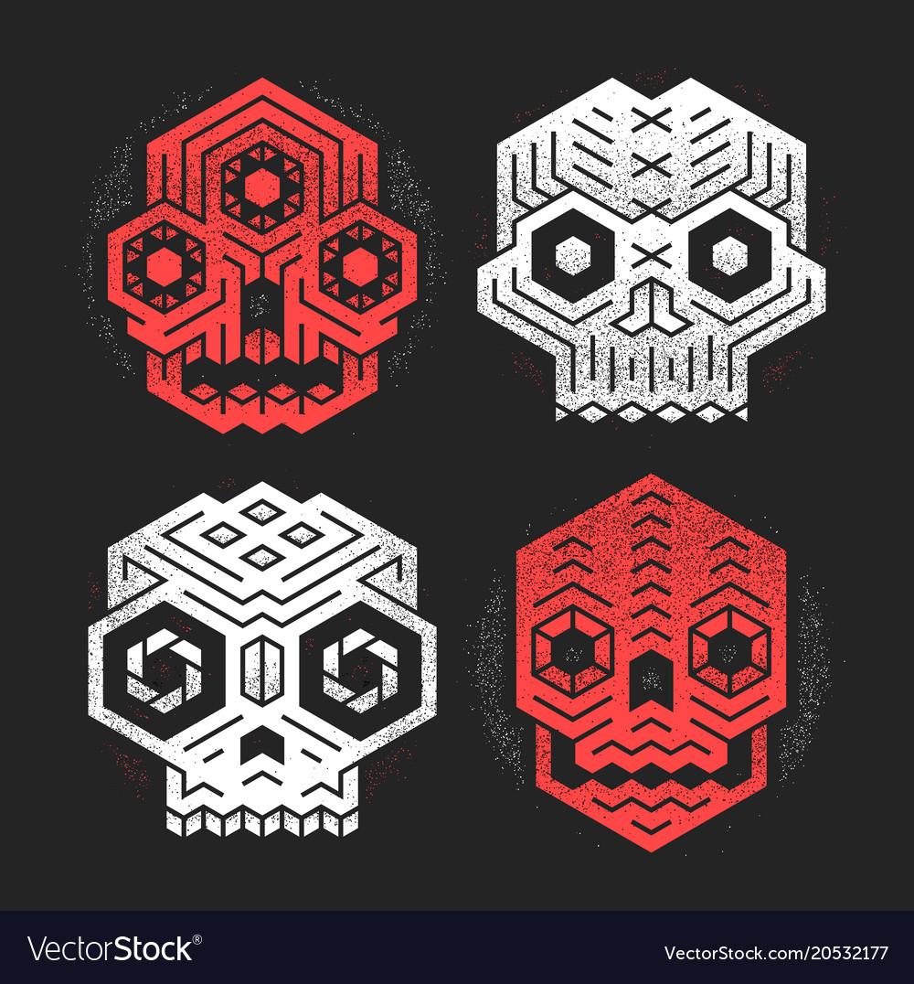 Tiki gods masks vector image