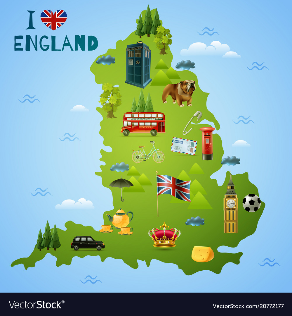 Map Of The England.Travel Map For England
