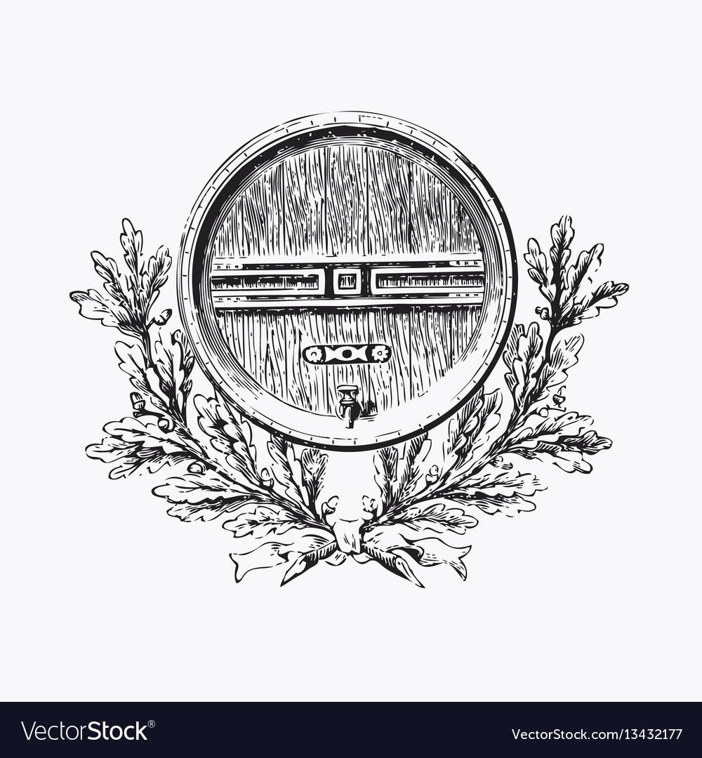 Vintage barrel engraving ephemeral
