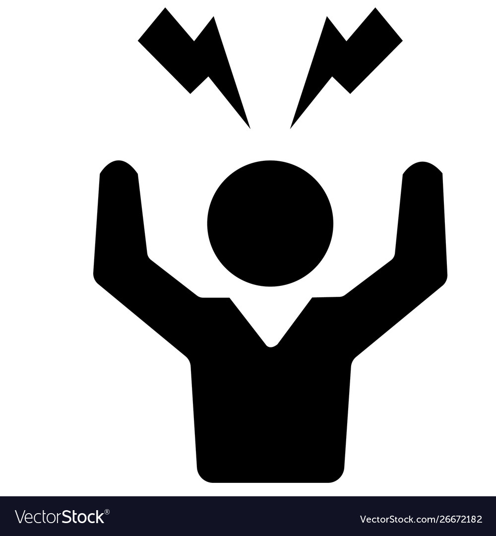 Angry person crazy stress icon symbol vector image