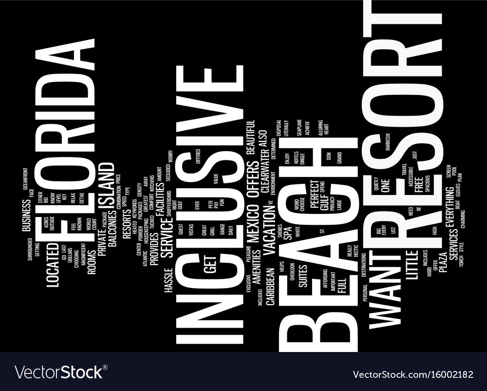 Beach front resorts of the costa del sol text vector image