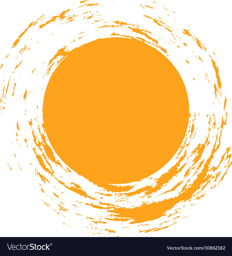 isolated sun logo design template abstract vector image