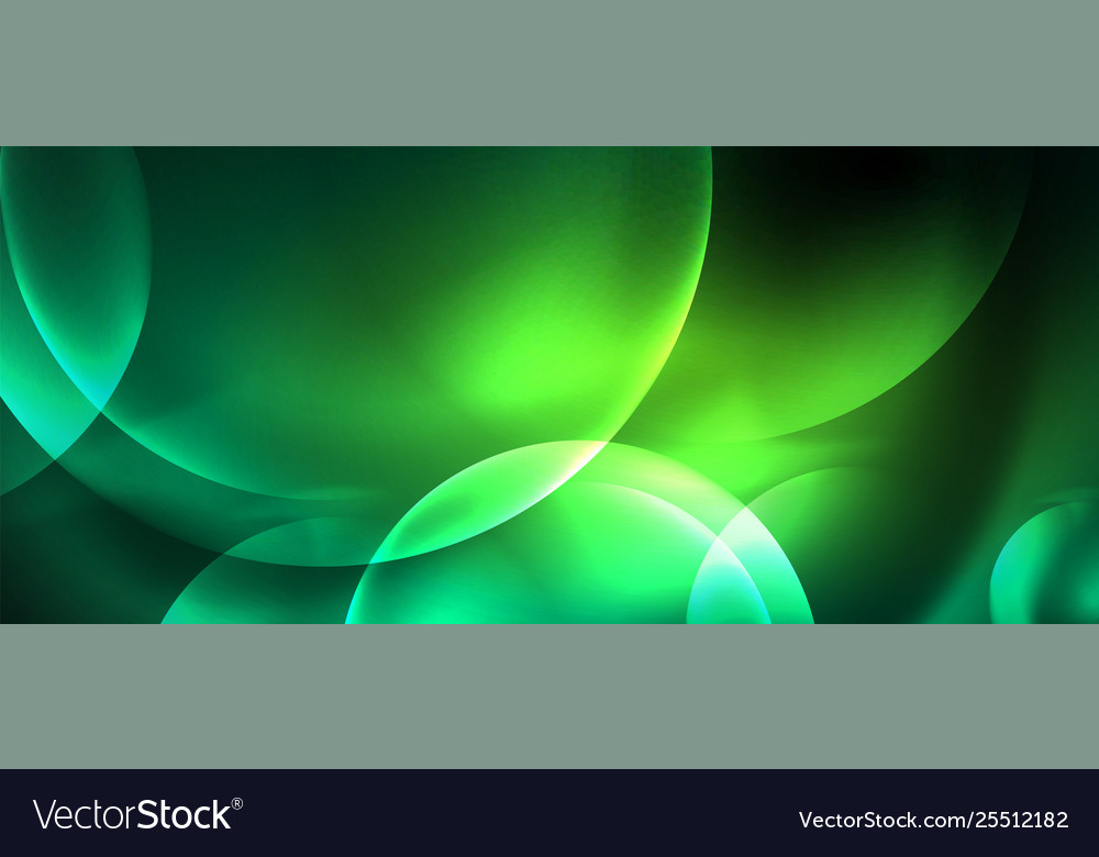 Neon glowing circles abstract background