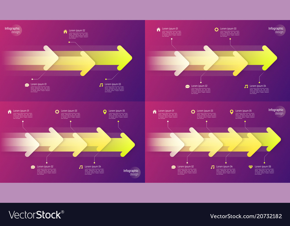 Paper style timeline infographic concepts with