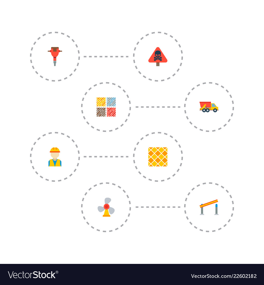 Set of construction icons flat style symbols with vector image on  VectorStock