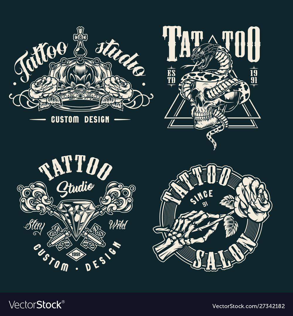 Vintage tattoo studio prints