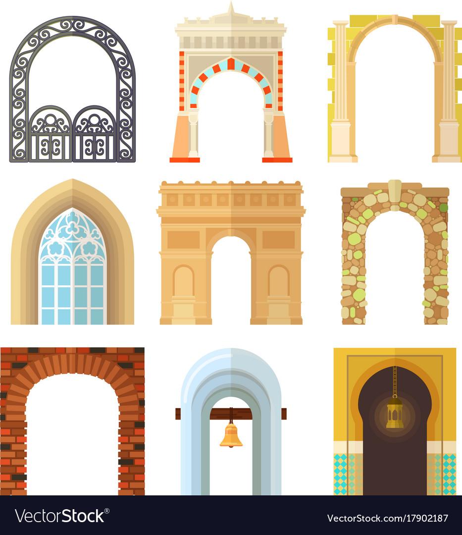 Arch design architecture construction frame