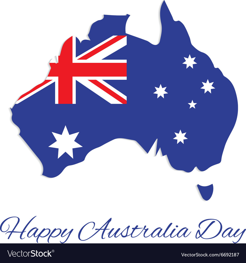 Australia map for Australia Day