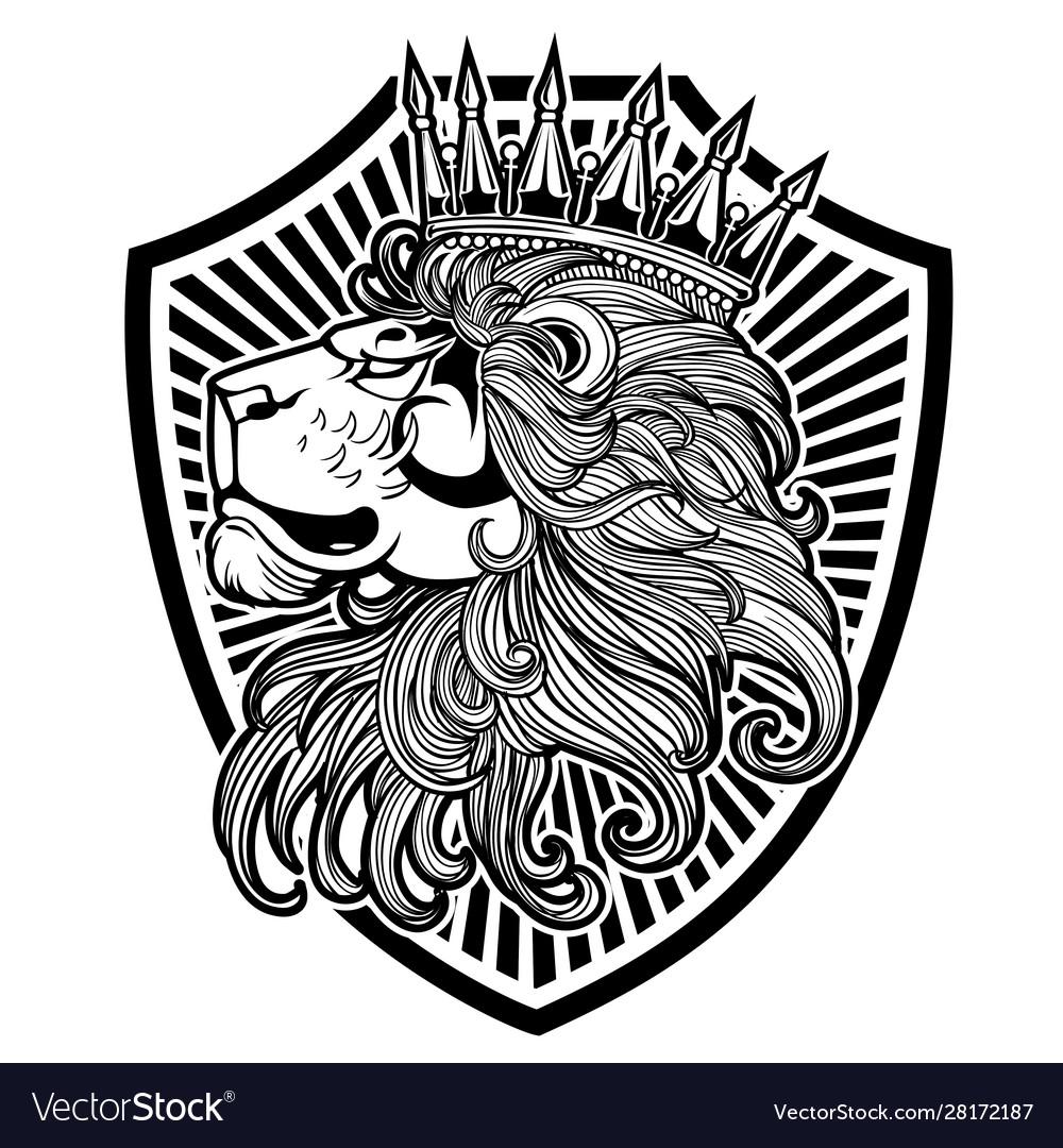 Crown king llion logo black