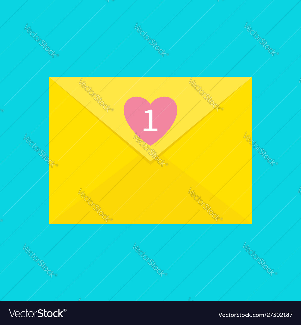 Email icon yellow paper envelope letter template