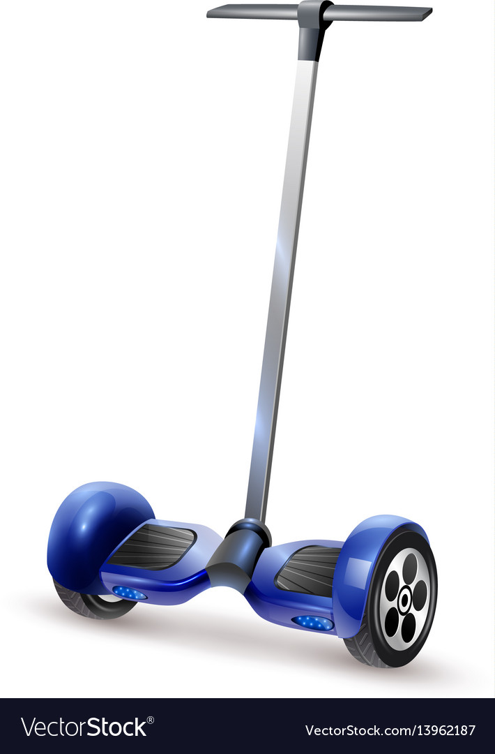 Gyro scooter realistic close up image