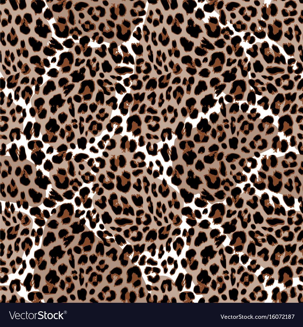 Leopard or jaguar seamless pattern modern animal