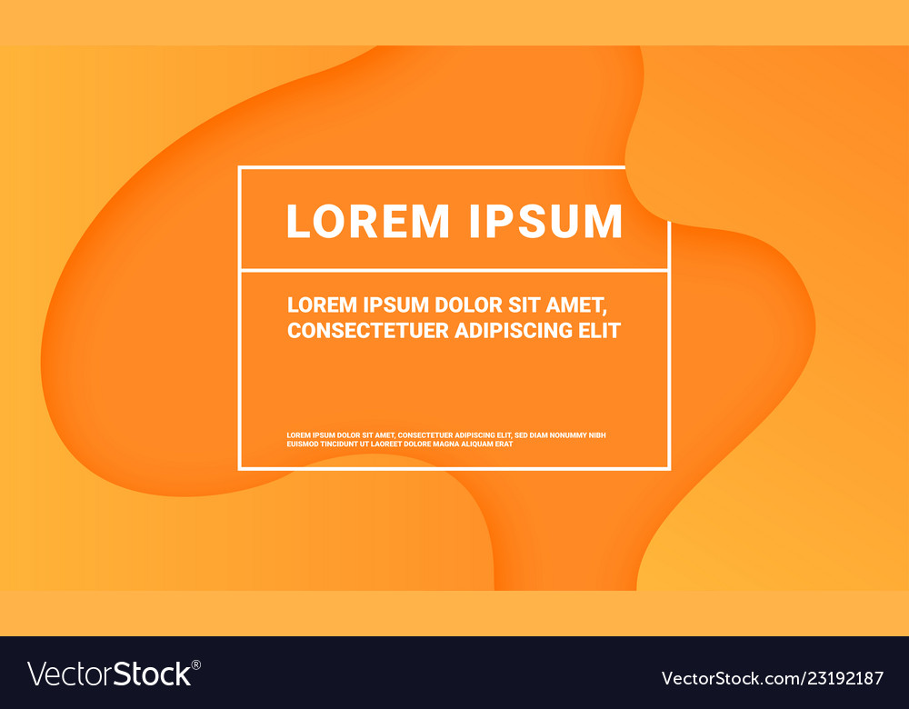 Minimal orange background abstract color fluid