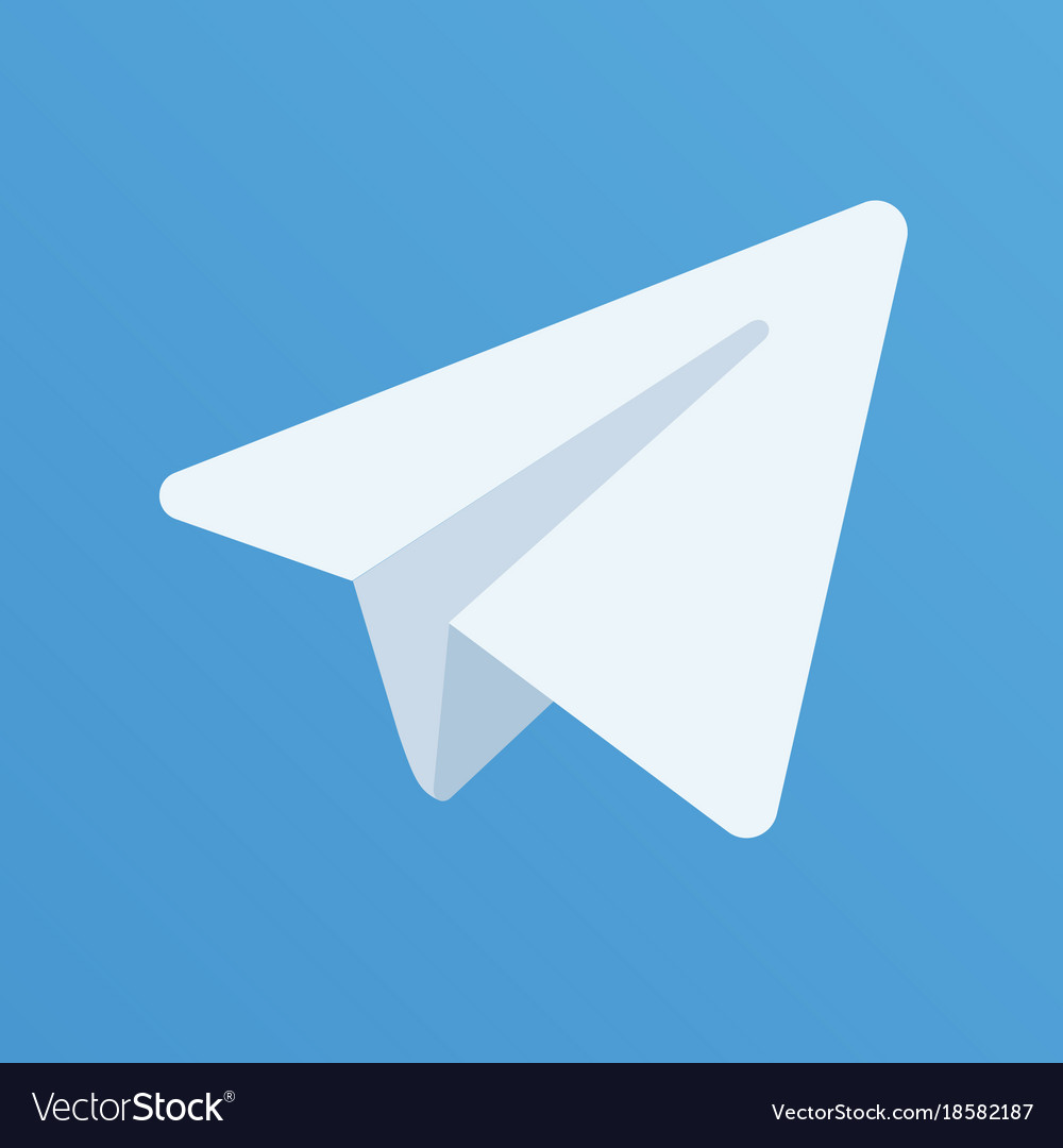 Paper aircraft logo on the blue background