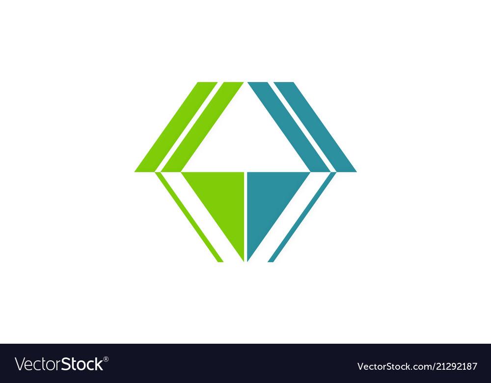 Shape architecture geometry logo