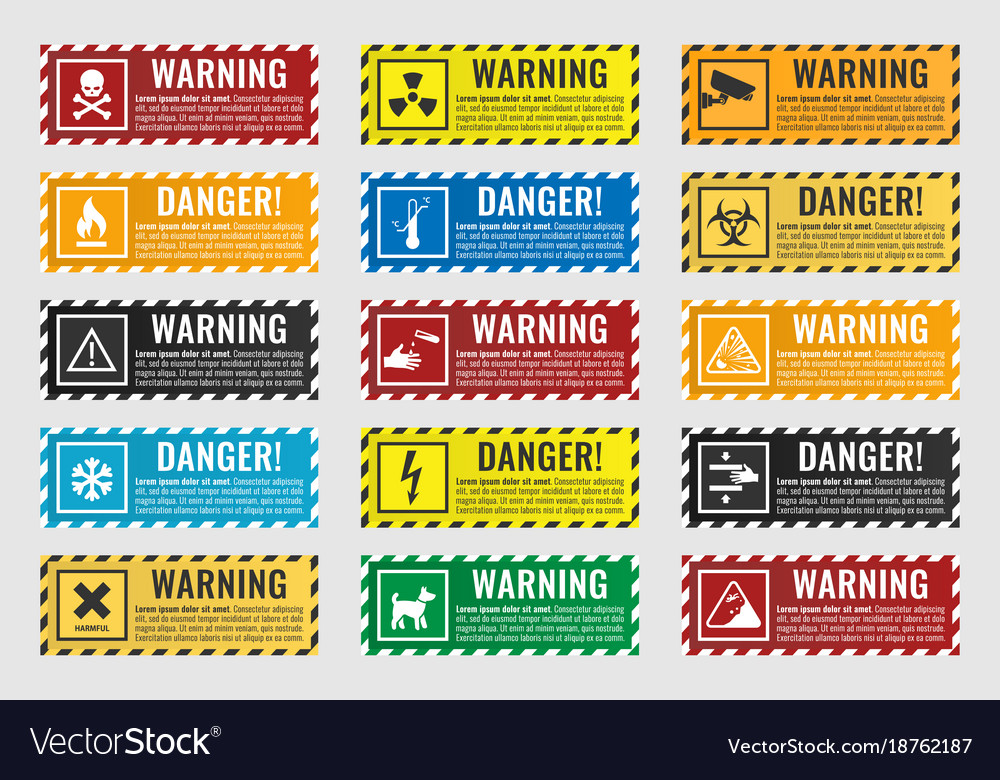 Signs warning of the danger - fire high voltage