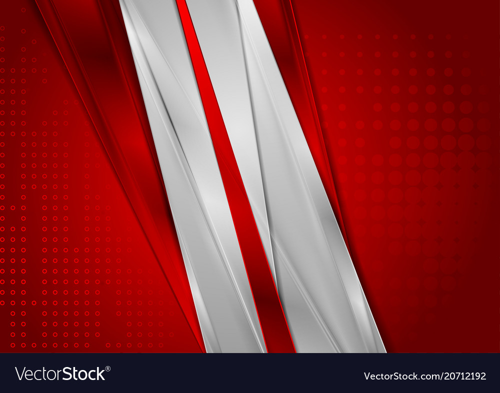 Bright red and grey glossy abstract background