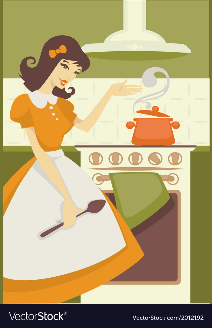 Cooking mom vector image