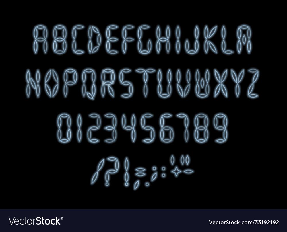 Digital font for led board scoreboard clock