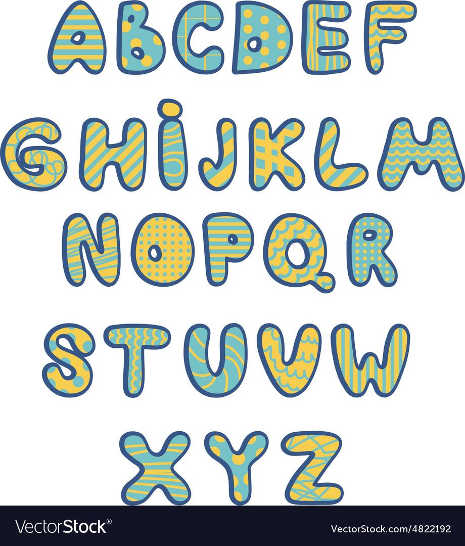 Funny kids colorful alphabet