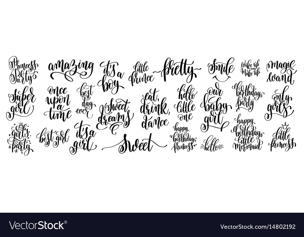 lettering quotes to birthday princess party vector image