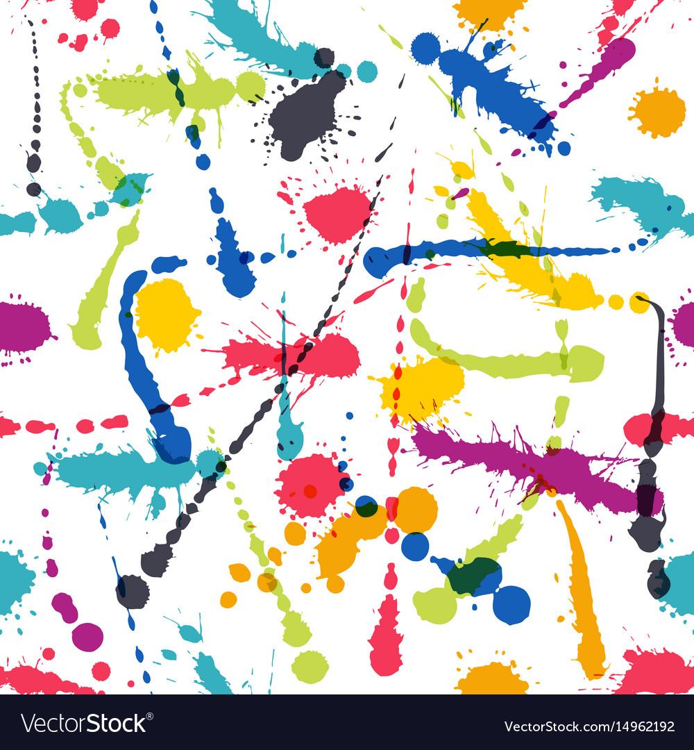Lnk art brush splash seamless pattern grunge