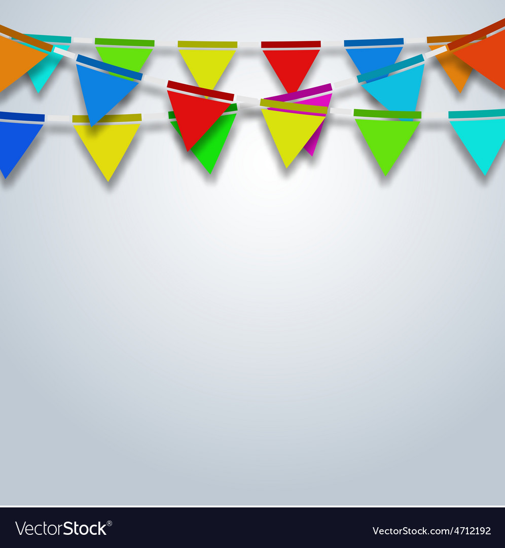 Modern party flags background