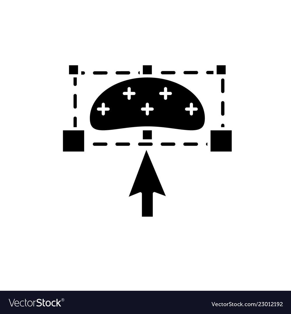 Object transform black icon sign on