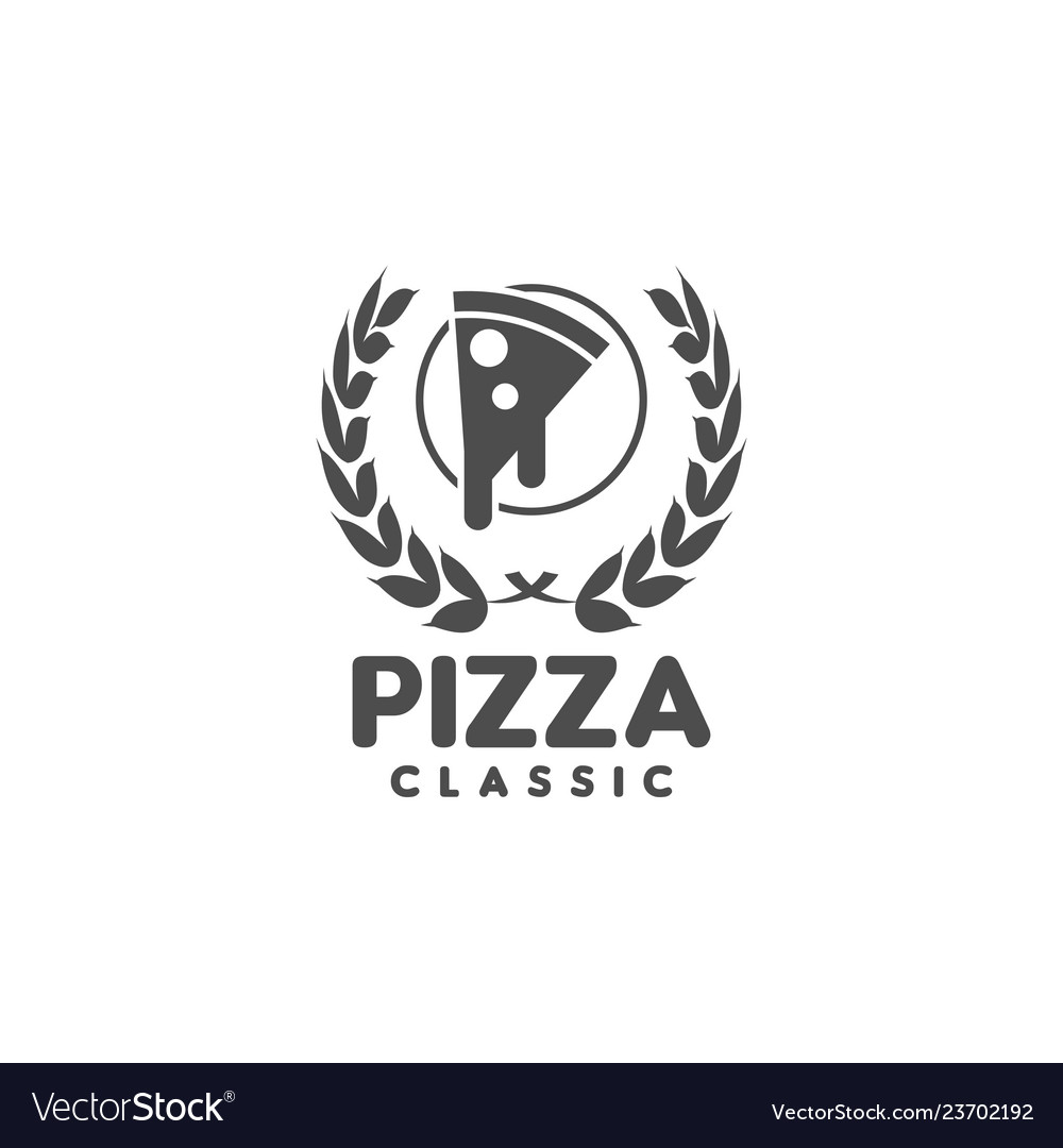 Pizza logo graphic design template