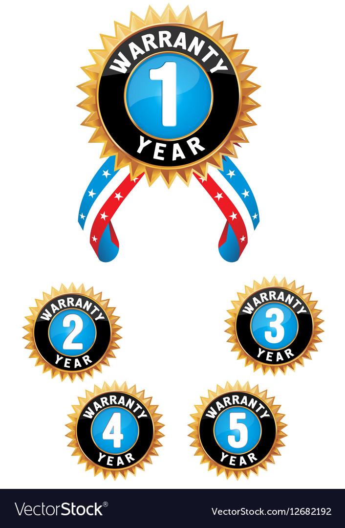 Set of medal vector image
