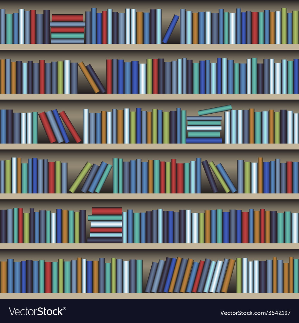 Bookshelf vector image Bookshelf Royalty Free Vector