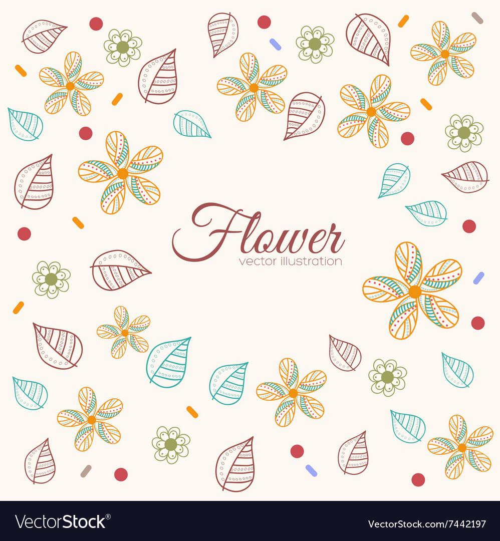 Decor flower template concept Icons design for vector image