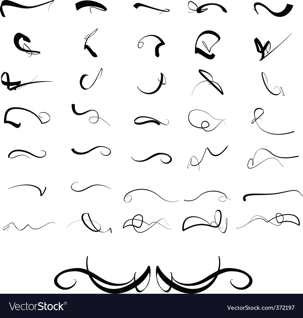 flourishes royalty free vector image vectorstock rh vectorstock com free vector flourishes and swirls flourishes vector free