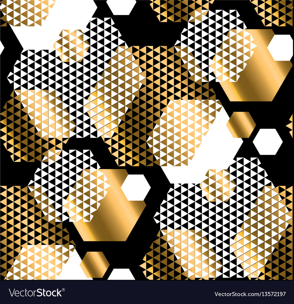 Gold and black color elegant repeatable motif