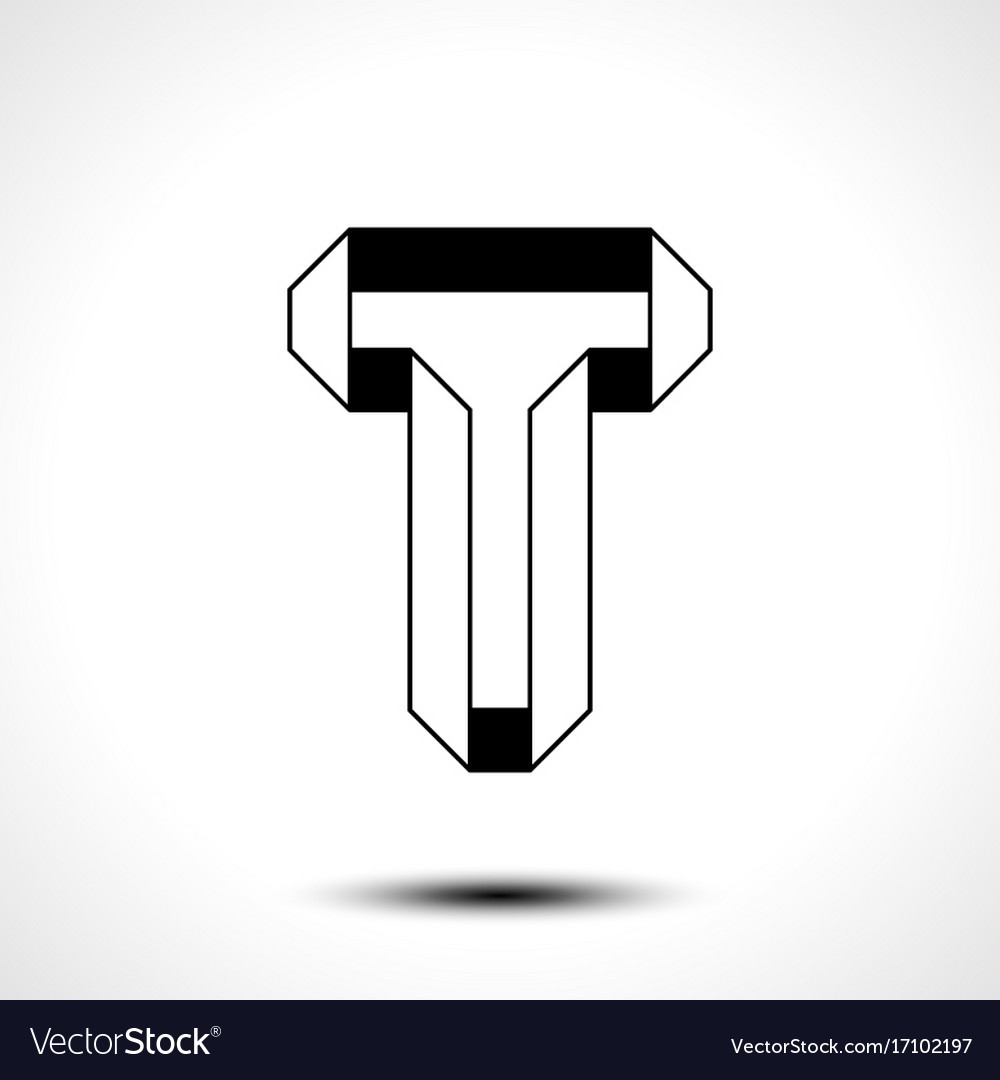Letter t logo icon design template element