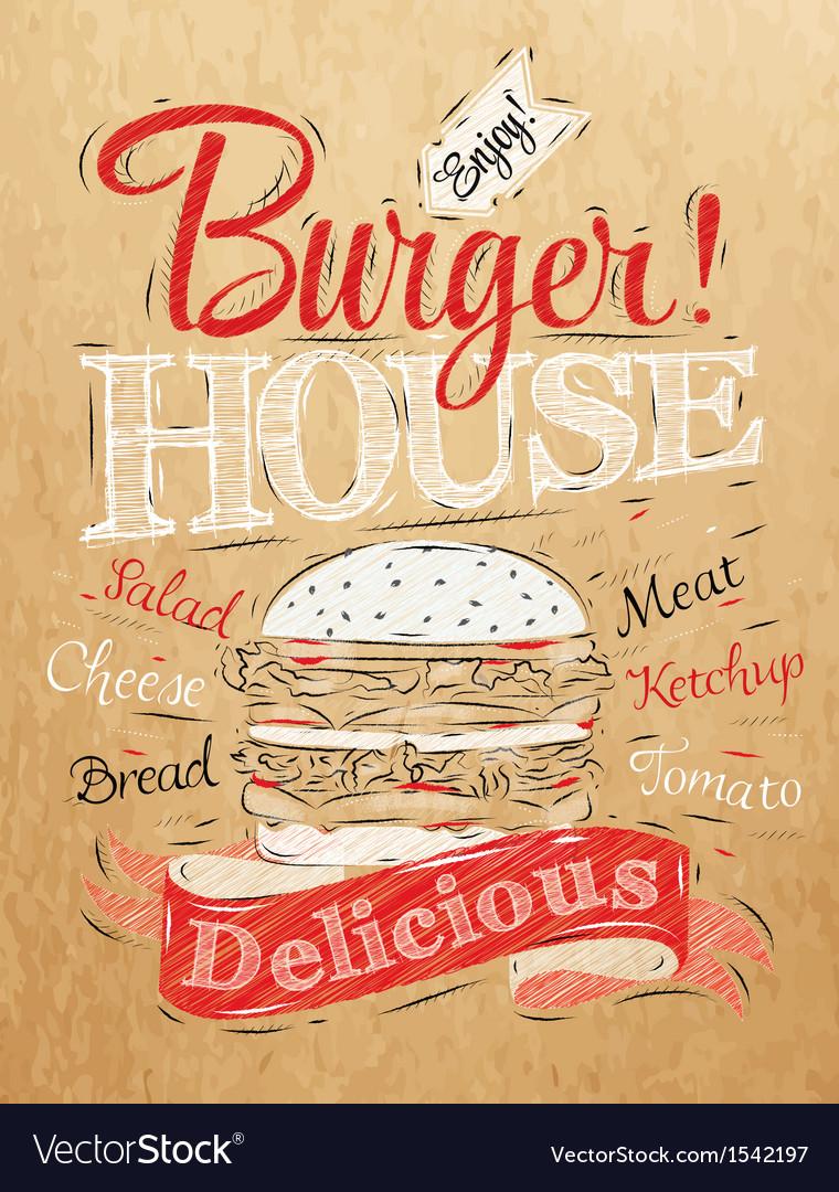 Poster Burger Hous Kraft