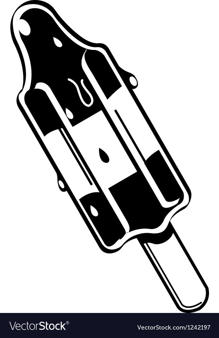 Rocket Popsicle vector image