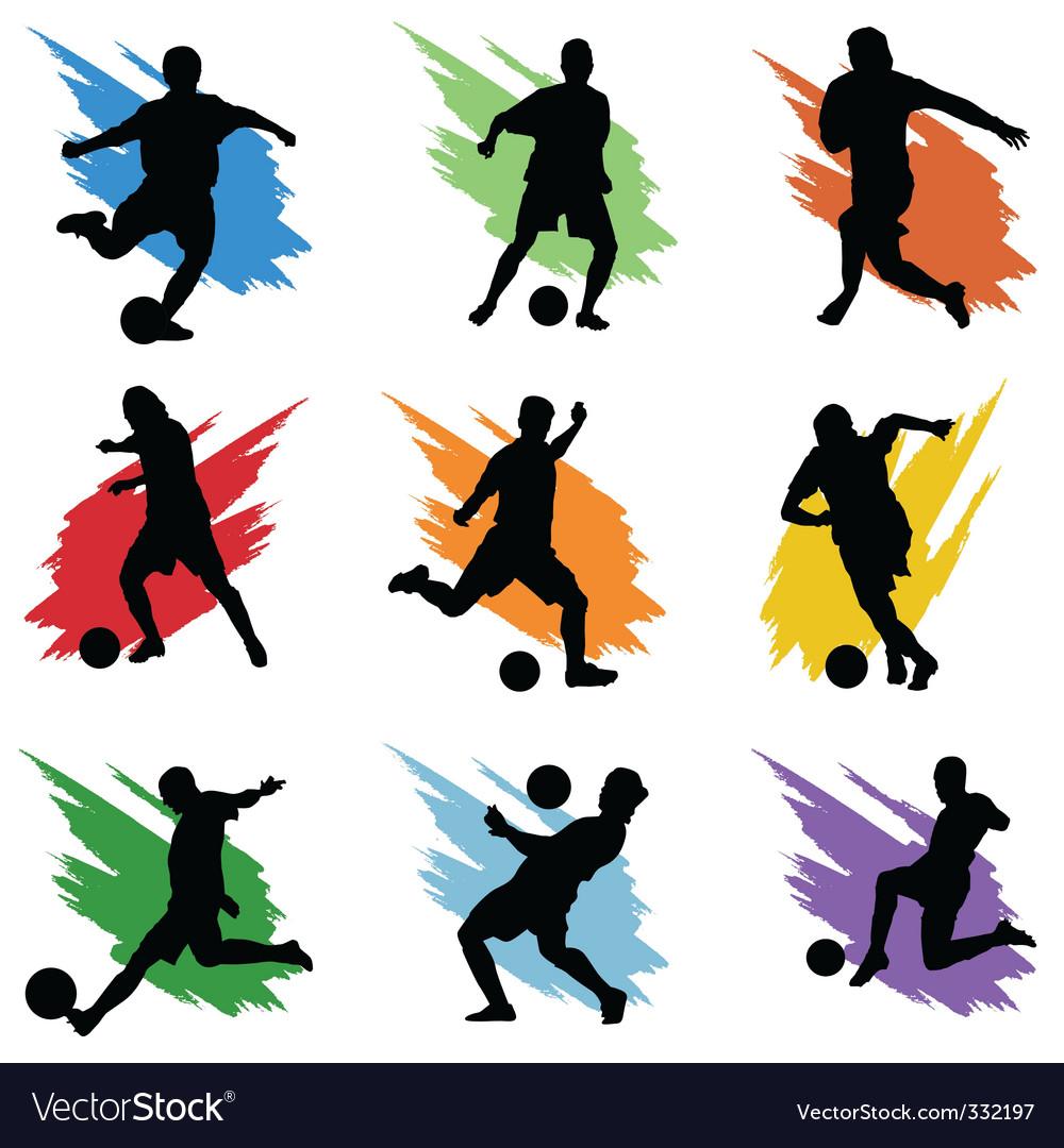 soccer royalty free vector image vectorstock rh vectorstock com soccer vector shields soccer vector shields