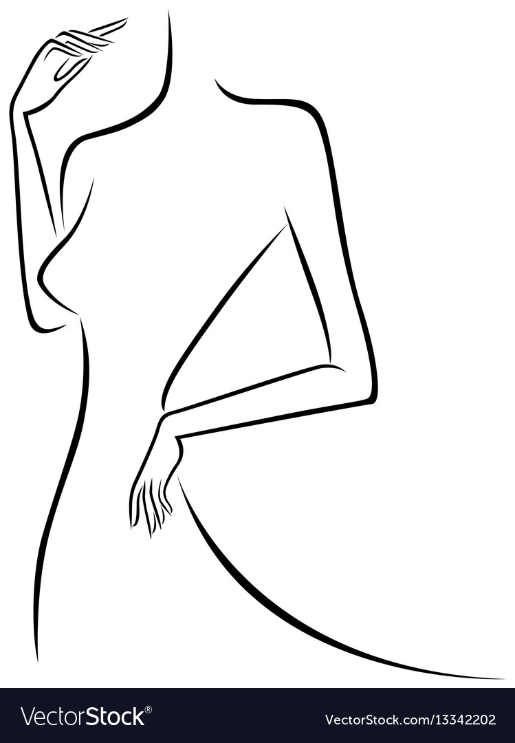 Abstract slim female outline
